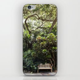 The Reading Bench & The Croton Tree iPhone Skin
