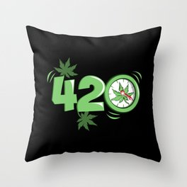 It's 420 Time Throw Pillow