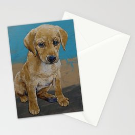 Yellow Lab Puppy Stationery Cards