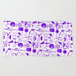 Buffy Symbology, Purple Beach Towel