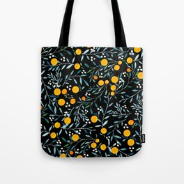 Oranges Black Tote Bag