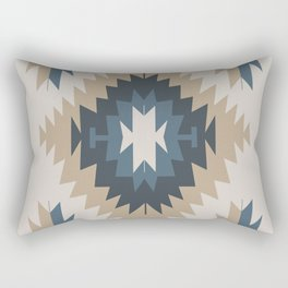 Santa Fe Southwest Native American Indian Tribal Geometric Pattern Rectangular Pillow