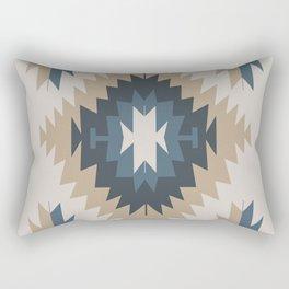 Santa Fe Southwest Native American Indian Tribal Geometric Pattern Rectangular Pillow