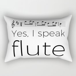 I speak flute Rectangular Pillow