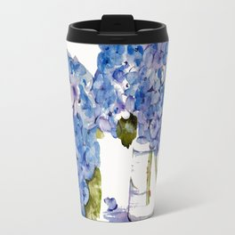 Hydrangea painting Travel Mug