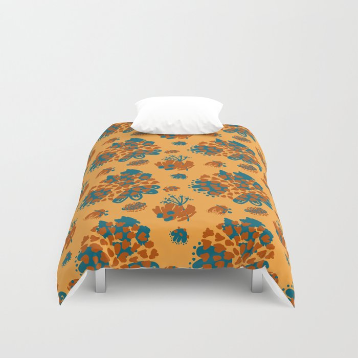 bold minimal color pallet duvet cover by