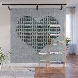 Vintage hearts Wall Mural