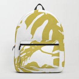 Simply Mod Yellow Palm Leaves Backpack