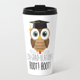 Con-grad-ulations! Hoot! Hoot! Travel Mug