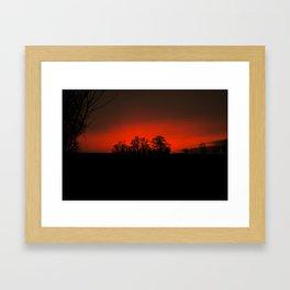 Sunset red Framed Art Print