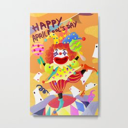 April Fool Clown Metal Print