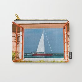 Red Yacht from the Window Carry-All Pouch