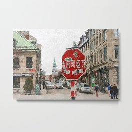 Montreal Street, Quebec Metal Print