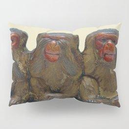 Three Wise Monkeys Pillow Sham