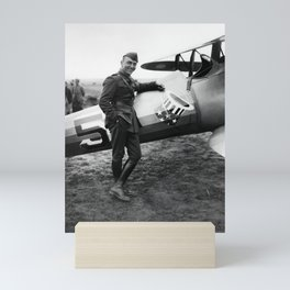 Eddie Rickenbacker - WW1 American Air Ace Mini Art Print