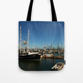 Westport Harbor Scene Tote Bag
