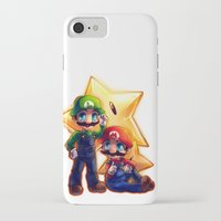 mario bros iPhone & iPod Cases featuring Mario Bros. by StephanieIllustrations