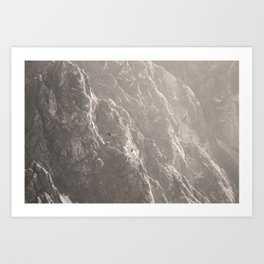 Condors soaring in colca canyon Art Print