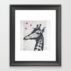 Loverboy Giraffe Framed Art Print