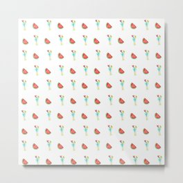 Watermelons and cocktails Metal Print
