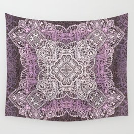 four pointed paisley star in light pink Wall Tapestry