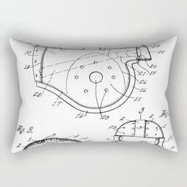 Football Helmet Patent - Football Art - Black And White Rectangular Pillow