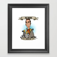 Seal Coaching (Nicholas Cage) Framed Art Print