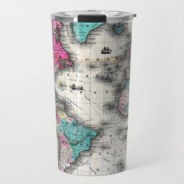 Vintage Map of The World (1852) - Stylized Travel Mug