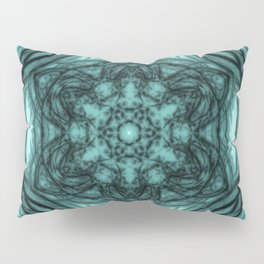 Elegant teal kaleidoscopes Pillow Sham