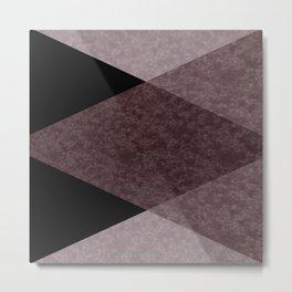 Black and brown marble Metal Print
