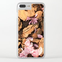 Fallen Blossoms Clear iPhone Case