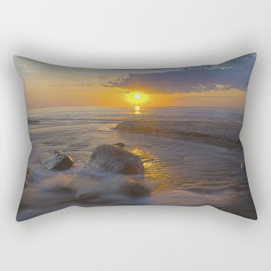 Hurricane Sunset Rectangular Pillow