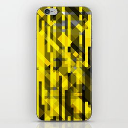 abstract composition in yellow and grays iPhone Skin