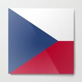 Czech Republic flag emblem Metal Print