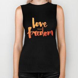 Love Your Freedom Biker Tank
