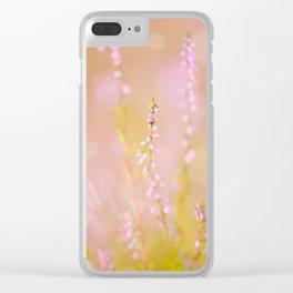 Subtle pink heather macro Clear iPhone Case