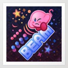 Kirby Beam Art Print