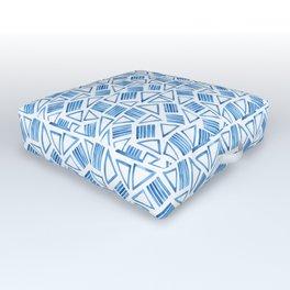 Modern Geometric Watercolour Triangles Outdoor Floor Cushion