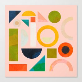 geometric play modern art Canvas Print