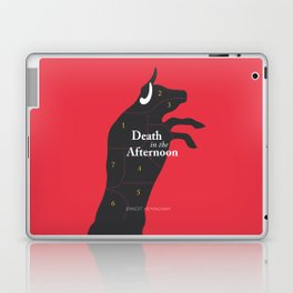 Ernest Hemingway book cover & Poster, Death in the Afternoon, bullfighting stories Laptop & iPad Skin