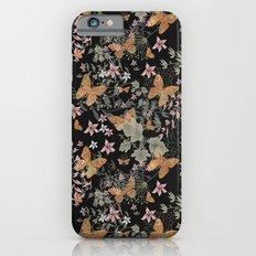 Night grunge butterfly on black background . iPhone 6s Slim Case