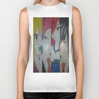fairy tail Biker Tanks featuring Fancy Fairy Tail Arrangement One by X21DaysOfMoonX
