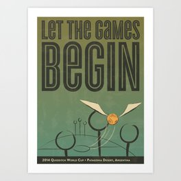 2014 Quidditch World Cup Poster - Illustration Art Print