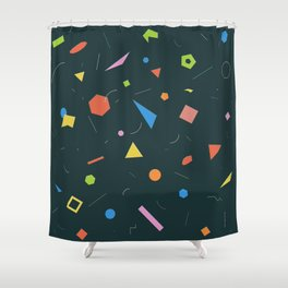 Polygon Soup Shower Curtain