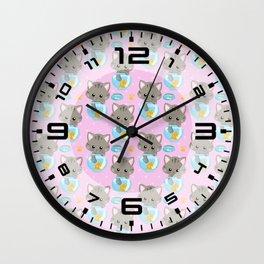 Cute Cat #4 Wall Clock