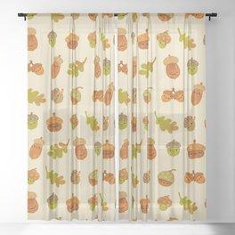 Acorns Sheer Curtain