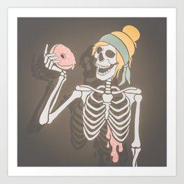 Death Before Dessert Art Print