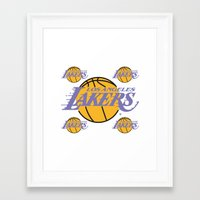 lakers Framed Art Prints featuring Lakers by Dexter Gornez