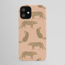 sunset leopards iPhone Case