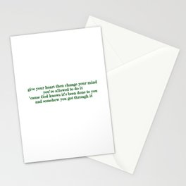 The Age of Worry Stationery Cards